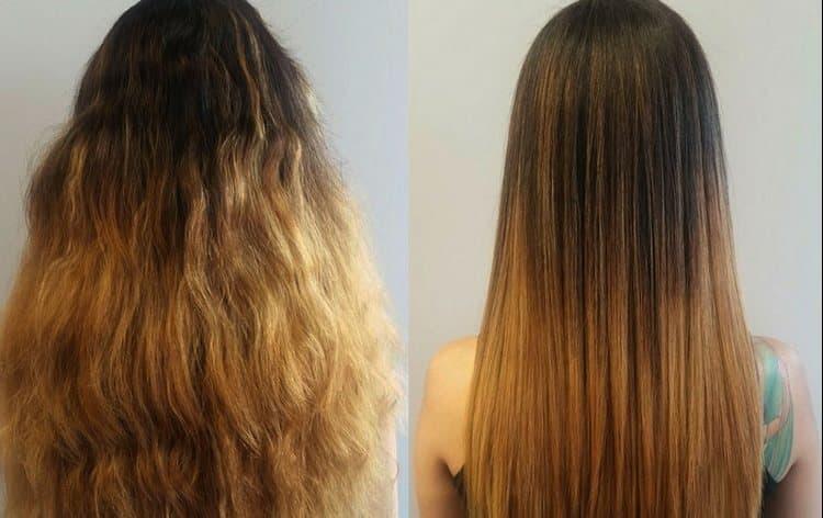 если нужен длительный эффект, следует обратить внимание на процедуру кератинового выпрямления волос.