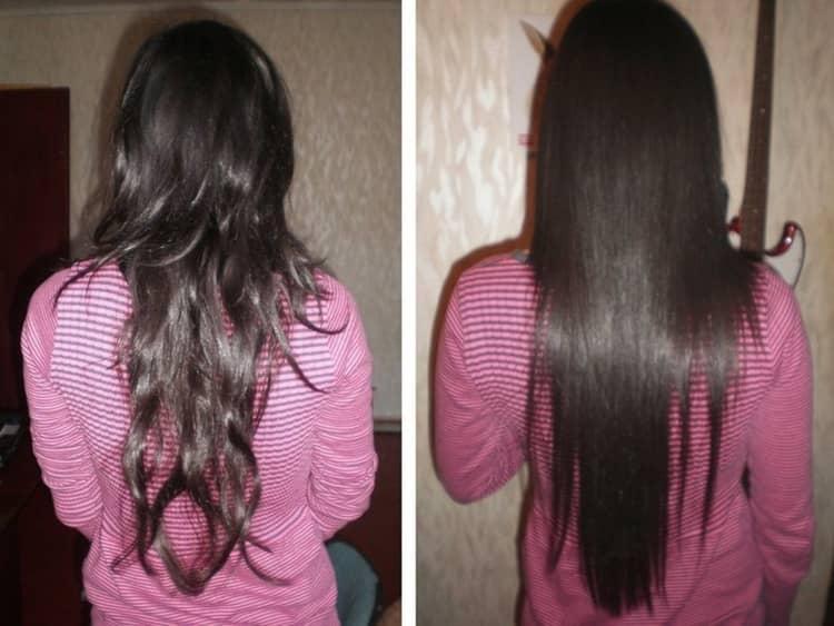 Можно для выравнивания волос использовать также масла.