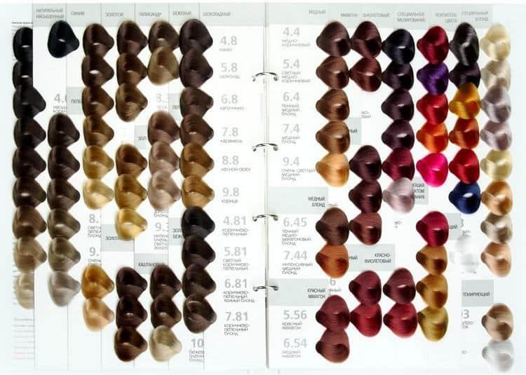 палитра краски для волос Капус студио.