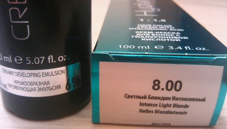 Оттенки краски для волос Капус на палитре позначены цифрами.