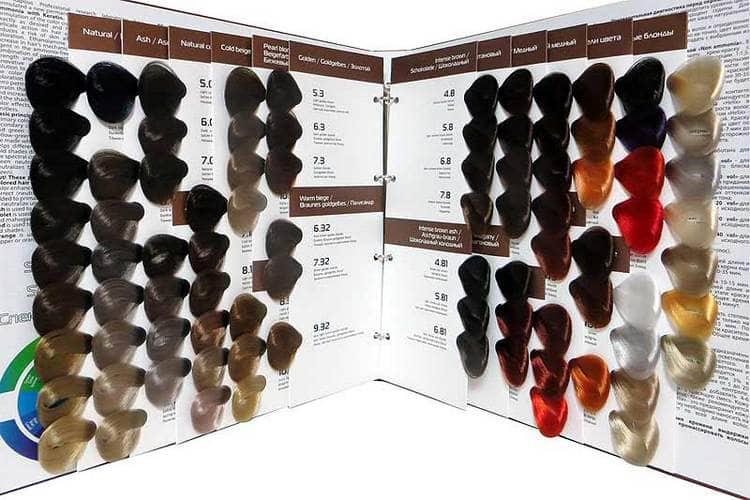 А вот раскладка с палитрой цветов краски для волос Капус.