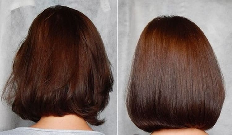 важно также помнить о том, что желатиновое выпрямление достаточно сильно утяжеляет волосы, что непосредственно повлияет на объем прически.