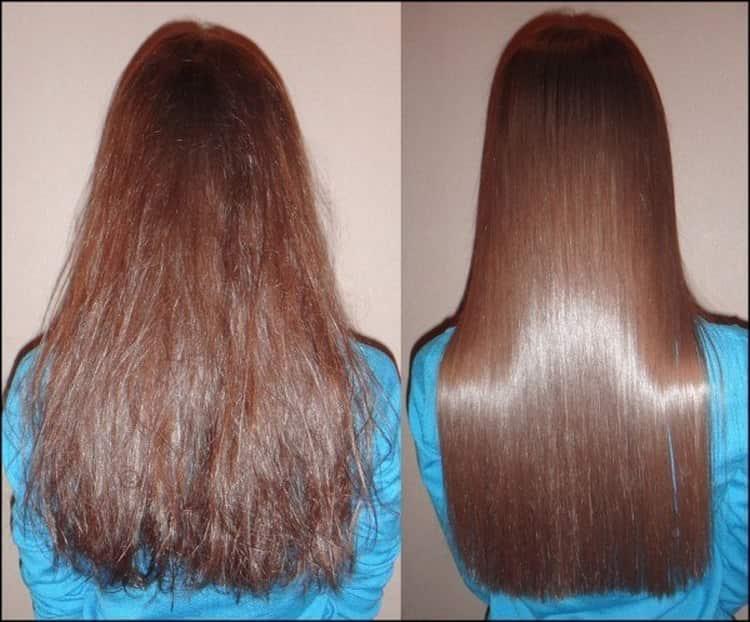 Хороший эффект дает бразильский кератин для выпрямления волос.
