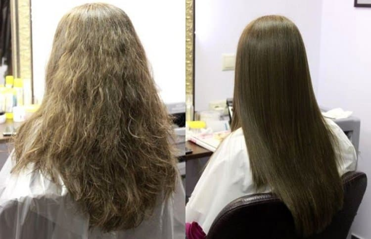 Выпрямление помогло уложить непослушные волосы.