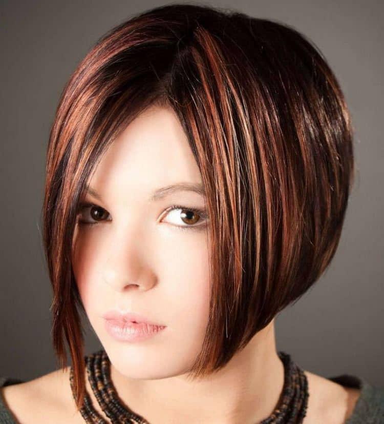 А вот фото колорирования на темные волосы каре.