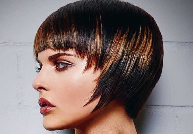 Посмотрите фото колорирования на темные волосы с короткой стрижкой.