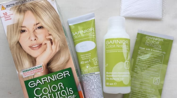 Посмотрим каталог краски для волос Гарньер с палитрой цветов.