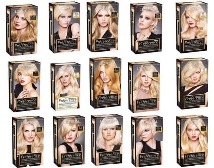 В палитре цветов краски для волос Лореаль преферанс есть и холодные оттенки.