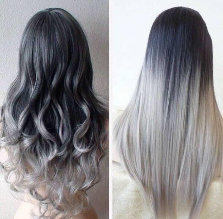 на длинные волосы будет актуальным пепельный цвет.