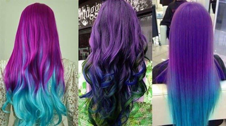 Посмотрите фото креативного окрашивания длинных волос.