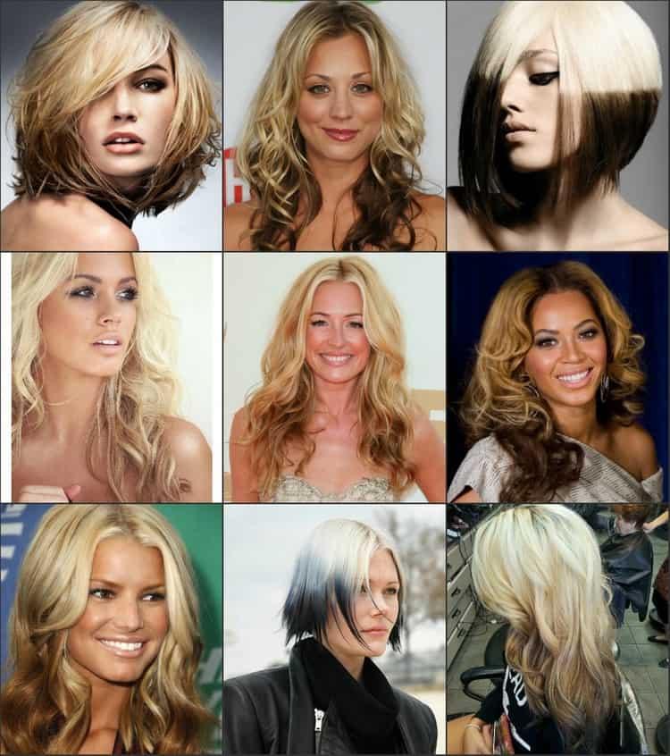 Креатитвное окрашивание на светлый волос можно сделать с использованием самых разных оттенков.