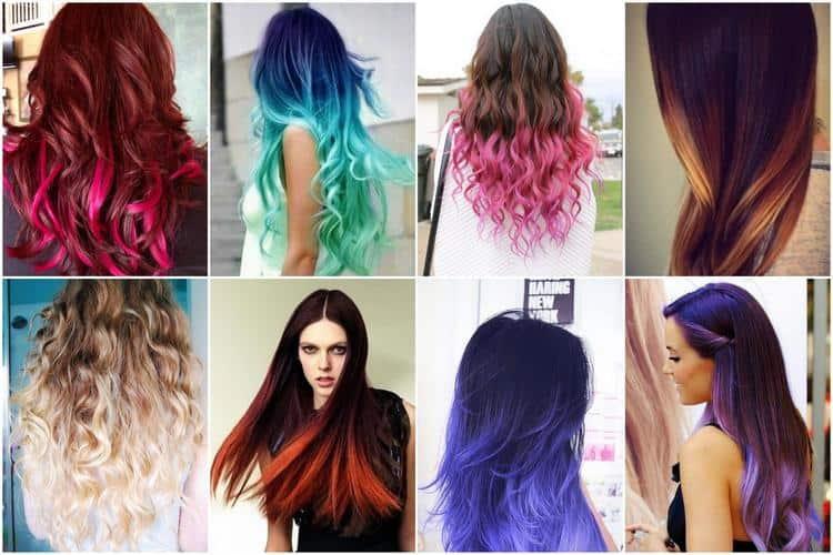 Самым разным может быть креативное окрашивание на темные волосы.