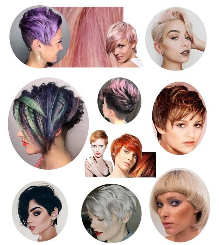 Осбенно актуальным такое окрашивание волос будет для стильных коротких стрижек.