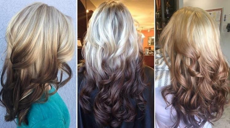 А вот фото креативного окрашивания волос средней длины.