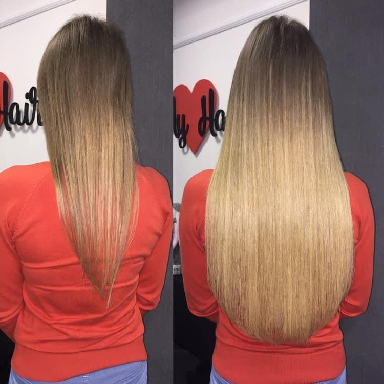 ленточное наращивание волос имеет свои плюсы и минусы.