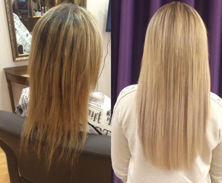 Благодаря такой процедуре, волосы выглядят очень эффектно.