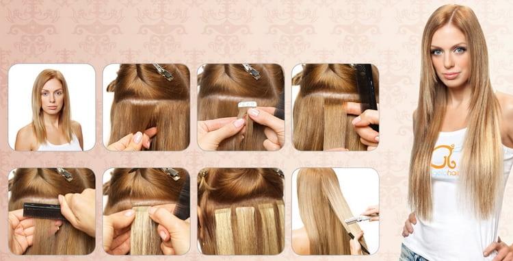 Посмотрите также видео о том, как сделать ленточное наращивание волос.