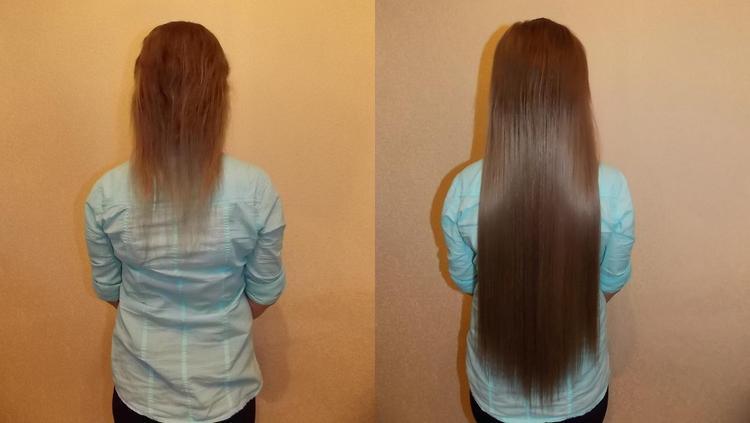 Посмотрите фото волос после ленточного наращивания.