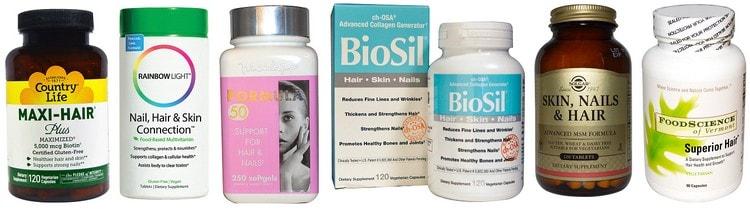 В аптеках продается множество разнообразных витаминных комплексов для волос.