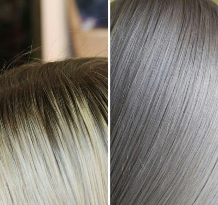 Краска отлично ложится на волос.