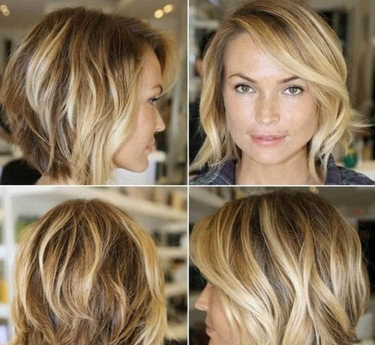 А вот фото стильного мелирования на русые короткие волосы.