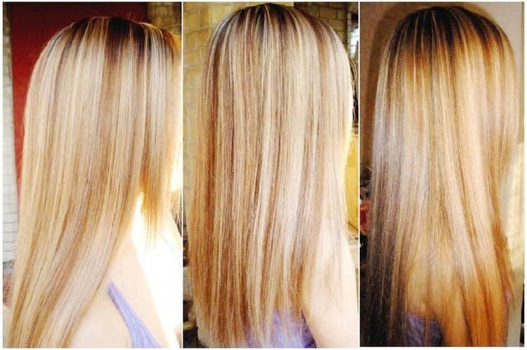А вот фото мелирования на светло-русые волосы.