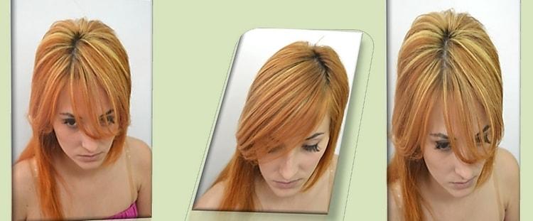результат такой покраски дает возможность по-разному укладывать волосы.