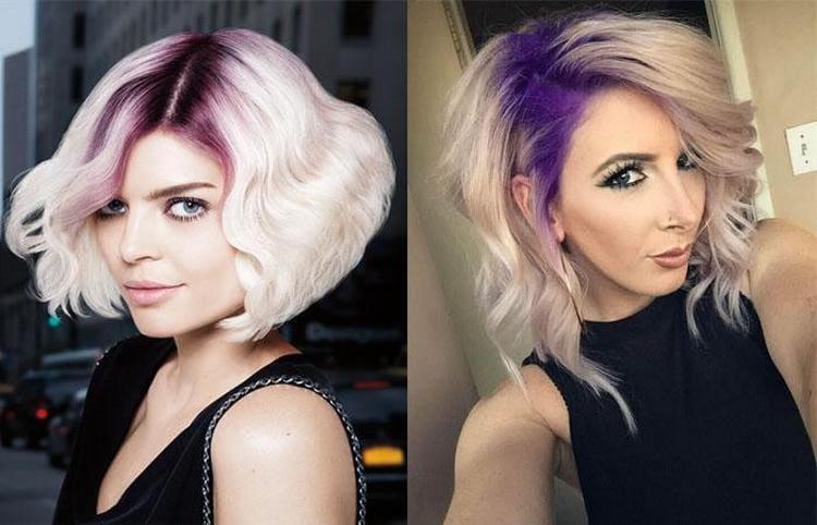 Можно мелками закрасить только корни волос.