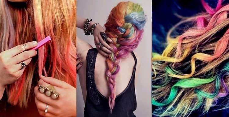 Перед тем как использовать мелки для волос, убедитесь в том, что правильно подобрали цвета.