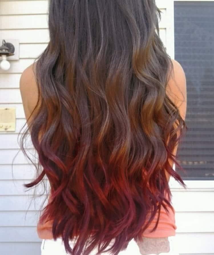 Посмотрите фото красивого окрашивания волос для брюнеток.
