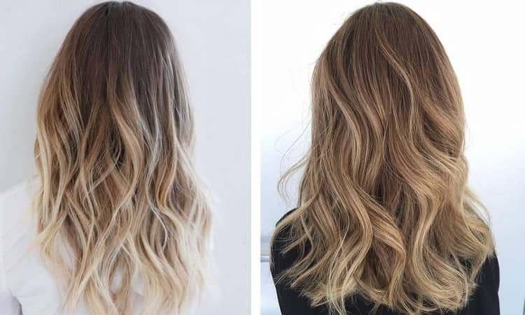 Отличный вариант покраски для светлых волос.