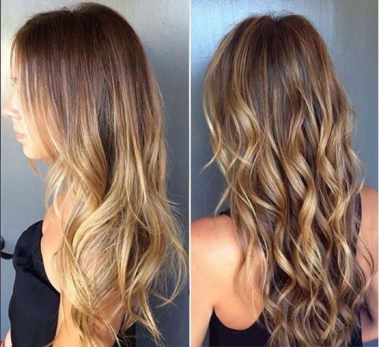 А вот фото модного окрашивания волос на длинные волосы.