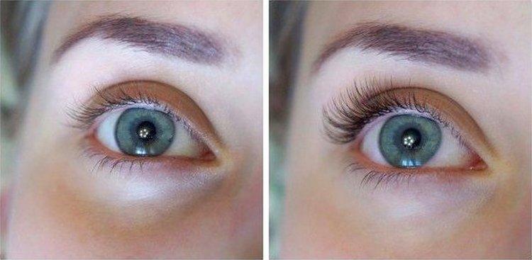 Посмотрите на фото, как выглядит наращивание ресниц на уголки глаз.