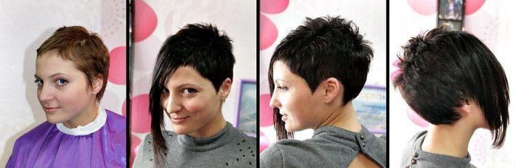 наращивание челки на короткие волосы позволяет эффектно преобразиться.