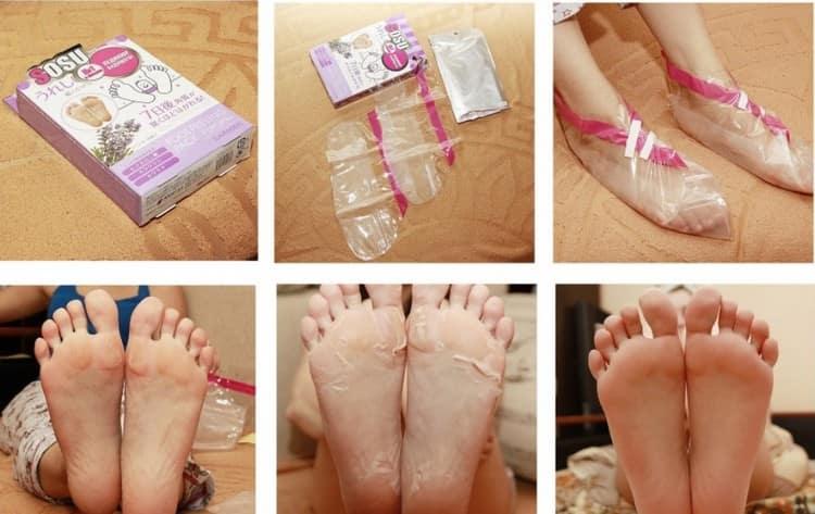 Посмотрите инструкцию по использованию китайских носочков для педикюра.