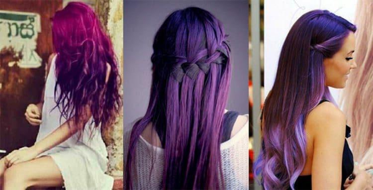 Многим нравится цветное окрашивание на темные волосы.