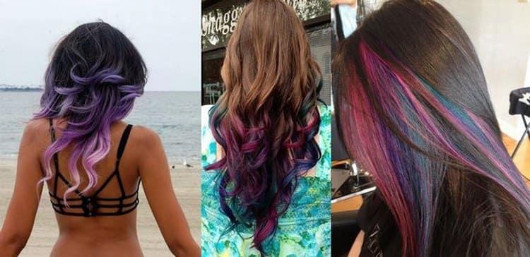 Такая покраска волос поможет создать самые неожиданные и эффектные образы.