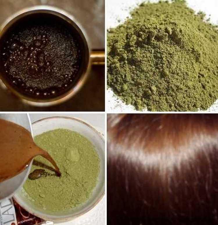 Для окрашивания хной темных волос можно воспользоваться также кофе.