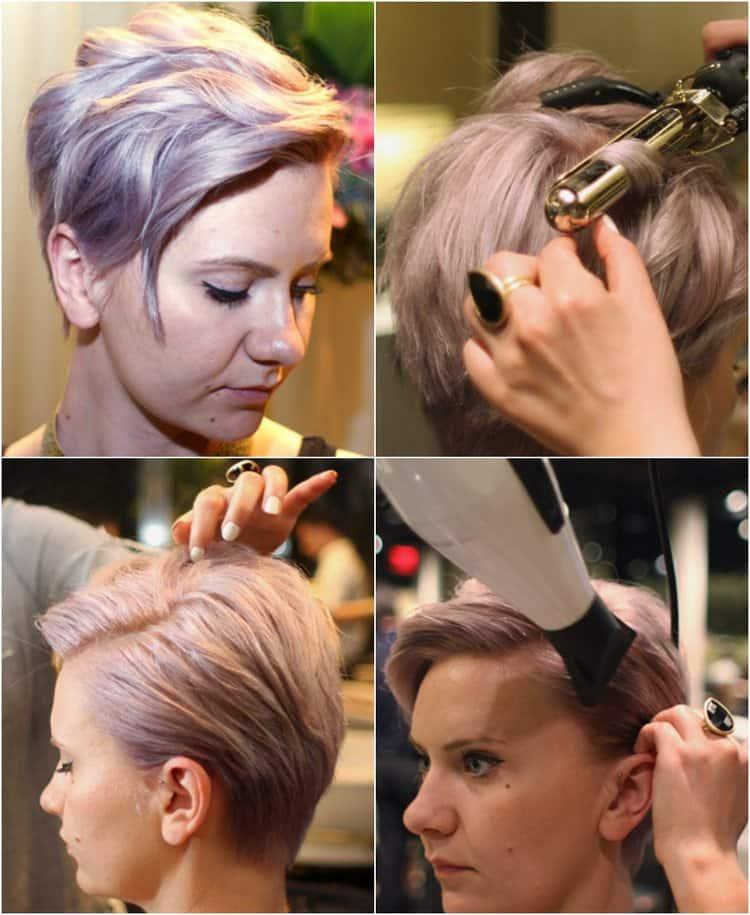 Посмотрите, как можно сделать прически на короткие волосы для женщин до 30-ти лет.