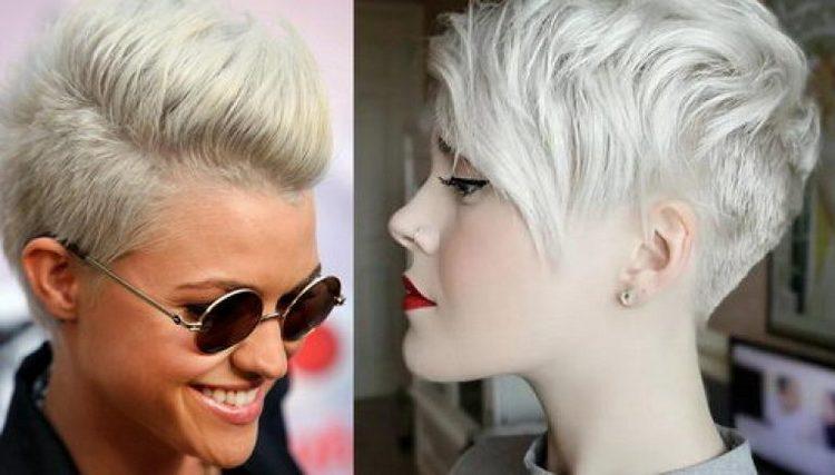 Посмотрите фото стильной прически на короткие волосы для женщин.