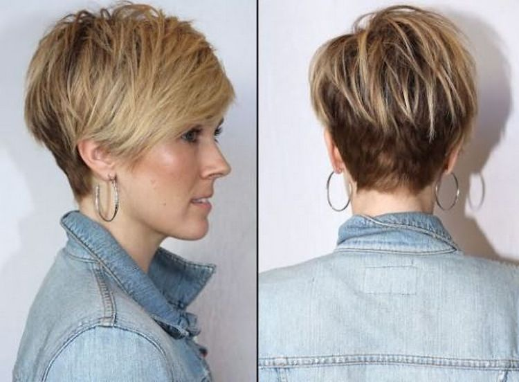 А вот вариант красивой прически на короткие волосы для женщин после 40.