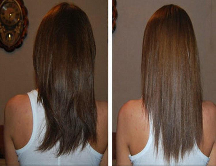При правильном использовании волосы получаются гладкими и блестящими.