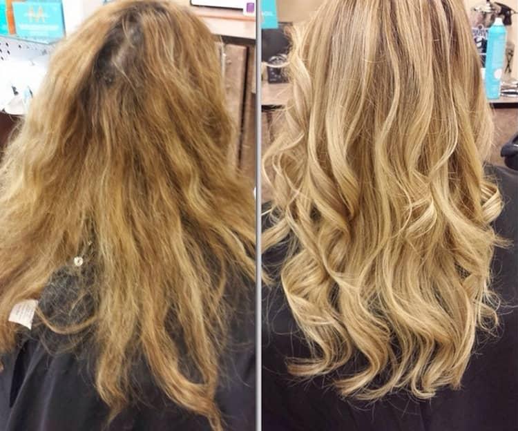 Фото сложного окрашивания волос до и после.