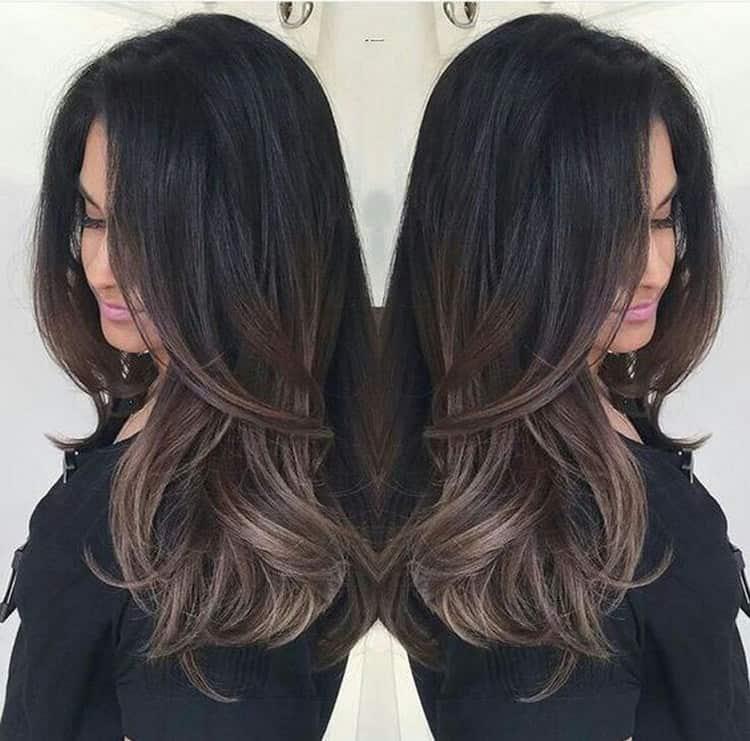Посмотрите фото сложного окрашивания волос для брюнеток.