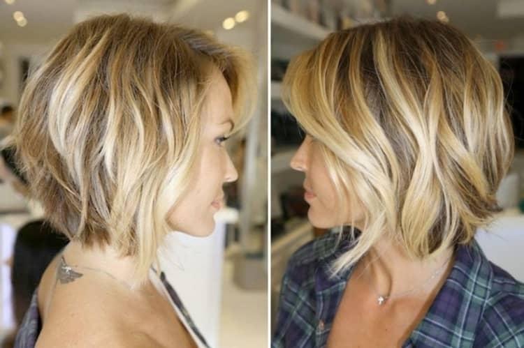 А вот фото сложого окрашивания для блондинок на короткие волосы.