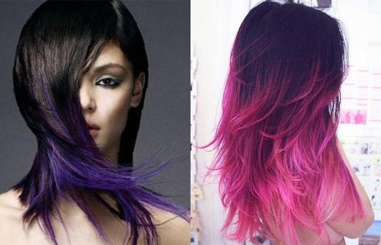 Многим нравится использовать фиолетовый цвет для окрашивания волос.