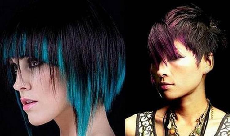 Можно сделать цветное омбре на короткие волосы.