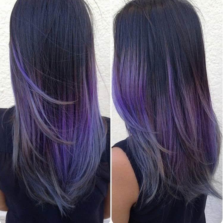 на длинных волосах омбре выглядит наиболее эффектно.