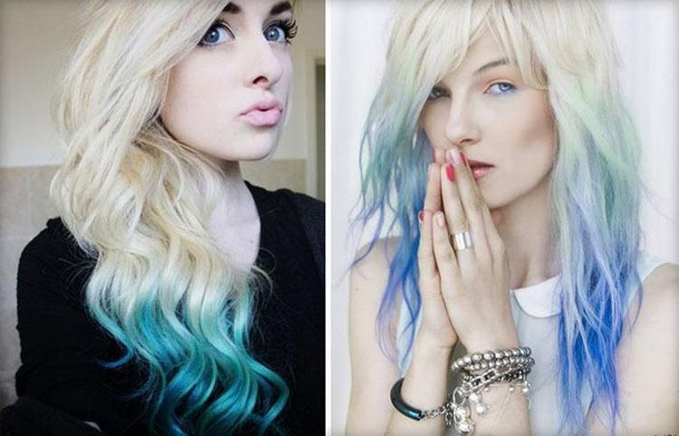На длинных светлых волосах омбре смотрится невероятно красиво.