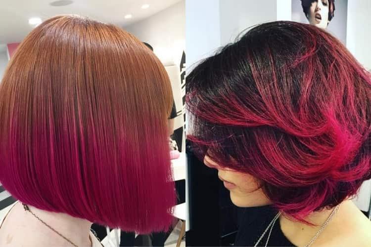 омбре красным цветом подходит и на темные волосы, и на светлые.